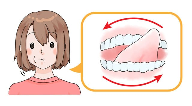 顎関節症の舌回しストレッチ