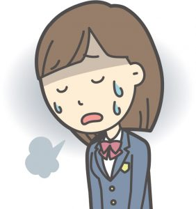 ストレスを感じている女子中学生